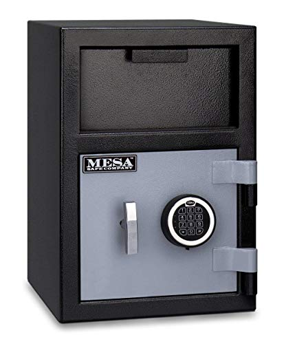 Mesa Safe Company Model MFL2014E Depository Safe with Electronic Lock, Two Tone Gray