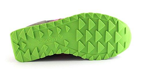 Saucony - Zapatillas para deportes de exterior de Piel para mujer gris Grigio/Viola 36 Grigio/Viola