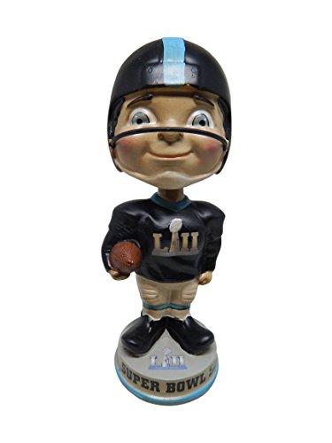 Super Bowl LII 52 Vintage Classic Football Limited Edition Bobblehead - New England Patriots vs. Philadelphia Eagles