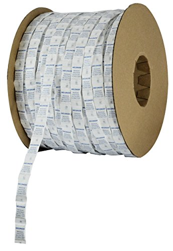 Dry-Packs 1G Continuous Strip Pillow packets Cotton Roll of 3000 Silica Gel, White by Dry-Packs