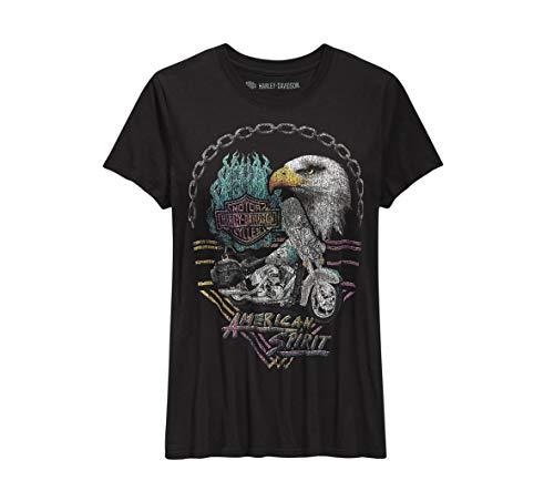 Harley-Davidson OfficialWomen's American Spirit Tee, Black (Large) -