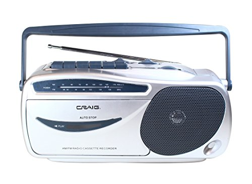 Craig Electronics CD6911 Portable AM/FM Radio Cassette Player with Recorder (Electronics Tape Player)