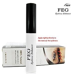 FEG Eyebrow enhancer. The most powerful eyebrow growth Serum 100% Natural. Promote rapid growth of eyelashes. 100% Original with Anti-Fake sticker!!! + Eyelashs and eyebrow brush!!!
