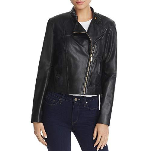 - Michael Michael Kors Womens Spring Leather Motorcycle Jacket Black M