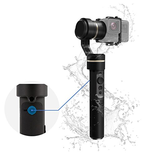 FeiyuTech G5 V2 Upgraded Version Splash Proof Handheld 3 Axis Gimbal Stabilizer for GoPro Hero 6 5 4 3, Yi Cam 4K, AEE and Other Action Cameras with Similar Size, with Carrying Case and Extension Bar