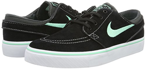 Nike Zoom Stefan Janoski Zapatillas de skateboarding, Hombre Negro (Black / Green Glow / Anthracite / White)