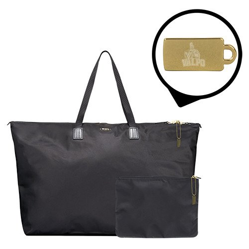 Valparaiso Tumi Just in Case Black Travel Duffel 'Official Logo Engraved' by CollegeFanGear