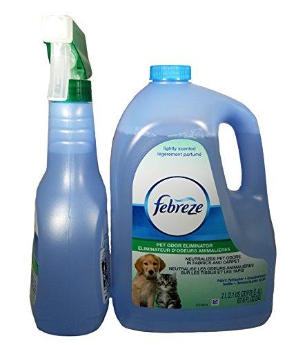 Febreze Pet Odor Eliminator 2L (67.6oz) - with Febreze Pet Odor 500ml (16.9oz) Spray Bottle Set