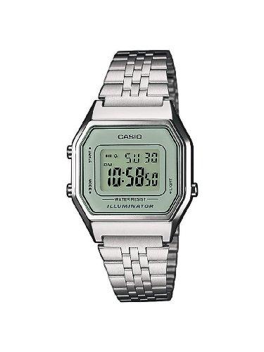 Casio LA680WEA,7EF , Reloj digital de cuarzo para mujer con correa de acero inoxidable, color plateado Amazon.es Relojes