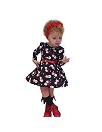 Toddler Kids Christmas Clothes Outfits,Baby Girl Snowman Princess Dress (18-24 Months, Navy)