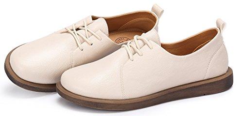 Derbies Automne Femme Abricot Beige Noir Chaussures à Confortable Beige Loisir CAMEL Cuir Chaussure Doux 40EU Plate Lacets 36 CROWN RqZUWwp7I