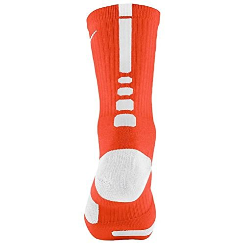 Nike Elite Basketball Crew Socks , Small, Orange