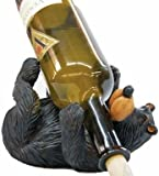 Cute Willie Black Bear Wine Bottle Holder 9.5″