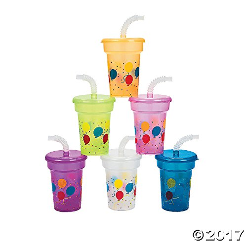Fun Express Birthday Party Mini Sipper Cups (1 -