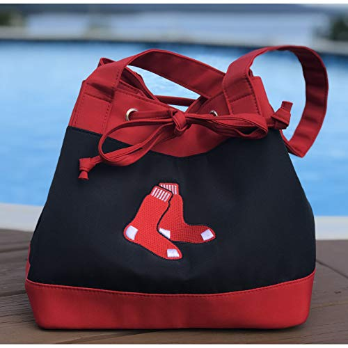 (MLB Boston Red Sox Fashion Lunch Bag with Embroidered Logo)