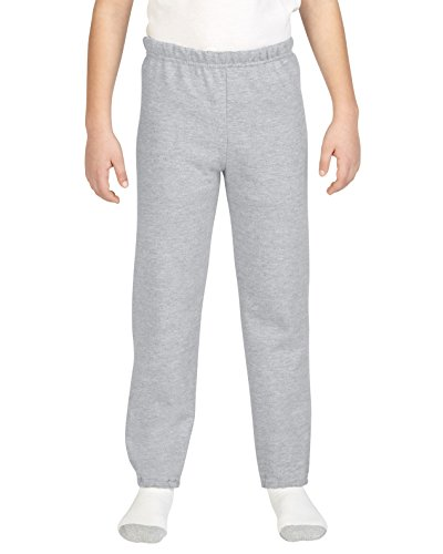 Boys  Gildan Closed Bottom Fleece Pants M, Sport Grey