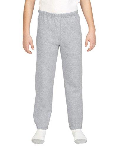 Boys  Gildan Closed Bottom Fleece Pants L, Sport Grey