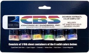 Cbs Dichroic Extract 6 Piece Solid Colors Sample Set