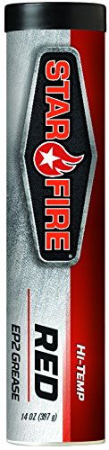 (Starfire Premium Lubricants Hi-Temp EP2 Grease, Carton of 10, Red)