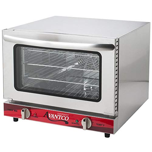 Avantco CO-14 Quarter Size Commercial Countertop Convection Oven Counter Top, 0.8 Cu. Ft. - 120V, 1440W