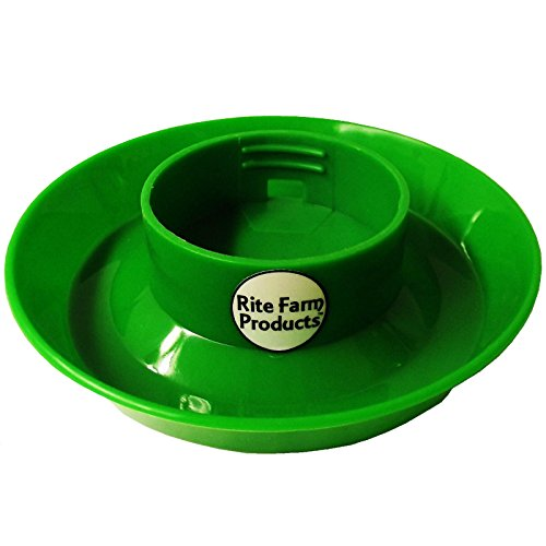 GREEN RITE FARM PRODUCTS WATERER BASE FOR POLY/GLASS QUART JAR POULTRY CHICKEN DRINKER Waterer Base