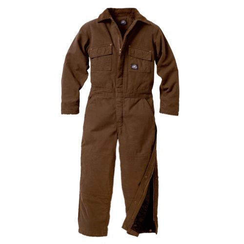 Polar King Boys/Youth Waist Zipper Insulated Duck Coverall - Saddle