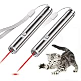Innozon Pack of 2 Laser Pointer Chaser Toys for Cats, Powerd by 1 AA Battery, Interactive Toy with LED Flash Light for...