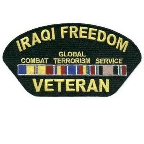 (IRAQI FREEDOM VETERAN Military Biker Ball Cap Patch POW WAR MC Club NEW PAT-0969)
