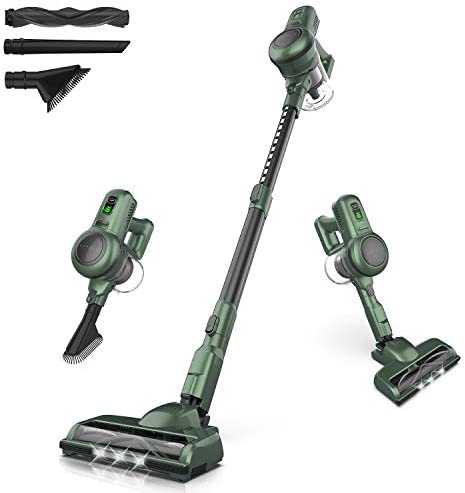ORFELD Cordless Vacuum Cleaner 4 in 1 Stick Vacuum Cleaner Upright Stand-Alone Lightweight Low Noise High Suction for Home Floor Cleaning