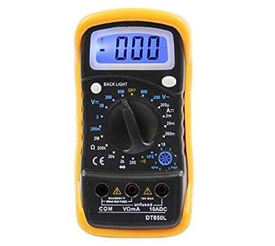 LCD Screen DT830L/DT850L Digital Multimeter AC/DC Voltage Current Resistance Meter Tester with LED Light not including batteries