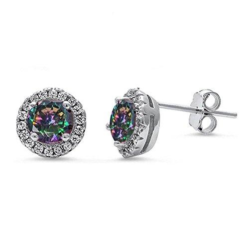 oval imperial topaz stud earrings - 4