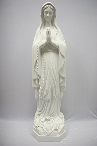 46'' Our Lady of Lourdes Blessed Virgin Mary Mother Catholic Statue Sculpture Figure Vittoria Collection Made in Italy Indoor Outdoor Garden by Vittoria Collection