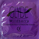 Premium Flavored Condoms GLYDE Wildberry 100 Count - Medium Organic Flavored | Australia's #1 Choice for Natural & Vegan Condoms