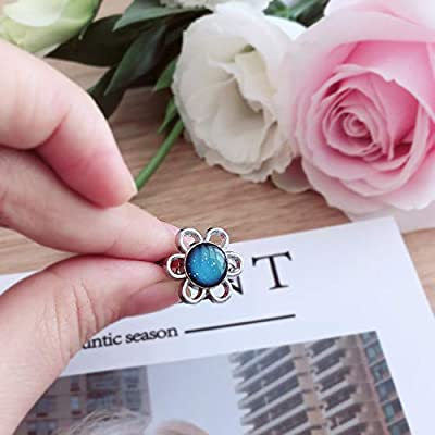FOECBIR Mood Ring Can Change The Color and Adjustable The Size of The Decorations (Sun Flower): Jewelry