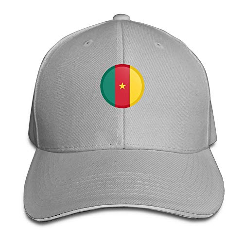 (SNMHILL Men Women Cameroon Flag Fashion Peaked Sandwich Hat Sports Adjustable Baseball Cap Unisex)