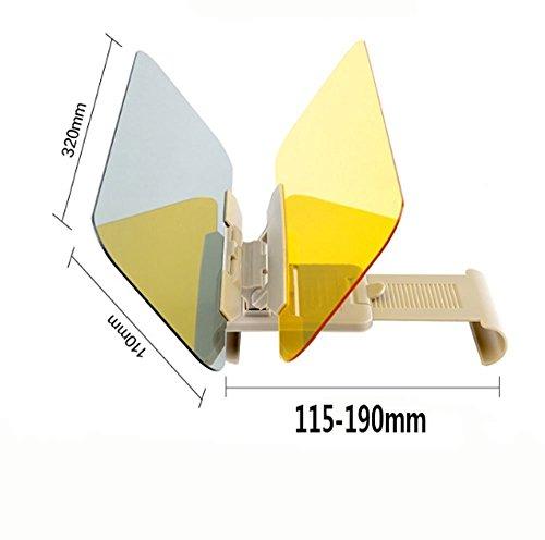 Extensor de Parasol Anti-Deslumbramiento,Coche Anti-Deslumbramiento Anti-Deslumbramiento - Gafas Sun Visor Extensor Protector Solar Shade Día o de la noche anti-deslumbramiento Autour 6