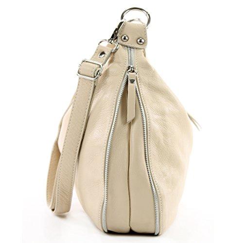 bandoulière à sac sac nappa de en bandoulière bandoulière cuir Modamoda en t56 Elfenbein ital pour sac cuir ® femme wPqzvFxC