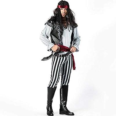 ASDF Disfraz de Pirata Cosplay a Rayas en Blanco y Negro de ...