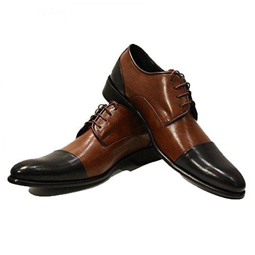 Cuir des Oxfords Vachette Cuir Chaussures Handmade pour Cuir Lacer Brun Hommes Souple de Graziano Italiennes Modello vAqBaB