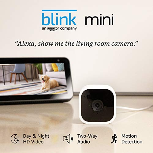 Blink Mini – Compact indoor plug-in sensible safety digicam, 1080 HD video, evening imaginative and prescient, movement detection, two-way audio, Works with Alexa – 1 digicam