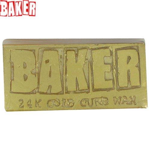 スケジュール尽きるビクターベーカー BAKER スケボーワックス BAKER 24 KARAT CURB WAXゴールド NO1