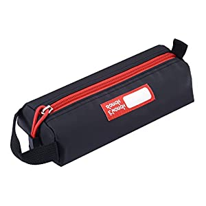 Rough Enough Multi Color Functional PVC Tarpaulin Simple Long Small Portable Pencil Case Tool Pouch Pen Bag Case Organizer Storage for Kids Boys Girls School Stationary Art Supplies