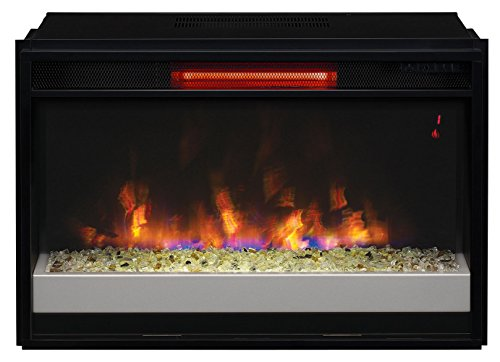 Sale!! ClassicFlame 26II310GRG-201 26 Contemporary Infrared Quartz Fireplace Insert with Safer Plug
