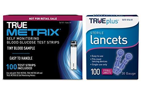 100ct TRUE METRIX® NFRS Test Strips + 100ct TRUEplus® 30g Lancets