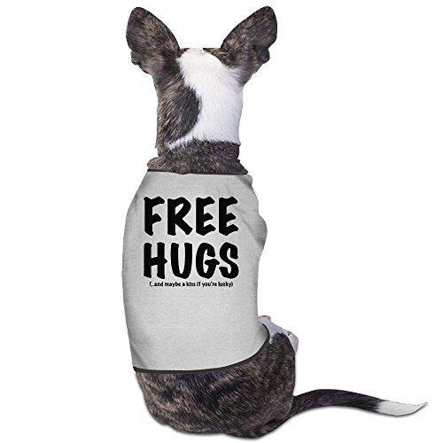 North Carolina Black Leather - Theming FREE HUGS Dog Vest