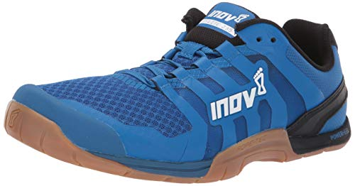 Inov-8 Mens F-Lite 235 V2 - Lightweight Minimalist Cross Training Shoes - Zero Drop - Athletic Shoe for Gym, Training and Weight Lifting - Wide Toe Box - Blue/Gum 11.5 M UK