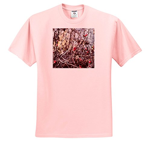 Price comparison product image Alexis Photography - Seasons Autumn - Red Hawthorn Berries,  Sharp Thorns - T-Shirts - Light Pink Infant Lap-Shoulder Tee (6M) (TS_267394_70)