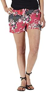 KAVU Women's Seattle Short, Berry Floral, Small