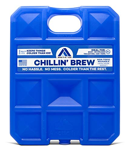 ARCTIC ICE Chillin Brew Series Reusable Cooler Pack, Reusable Ice Packs for Coolers, Long Lasting Ice Pack, X-Large Ice Pack