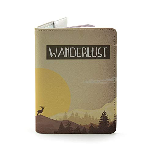 Wanderlust Collection - Personalized Leather Passport Holder - Travel Gifts